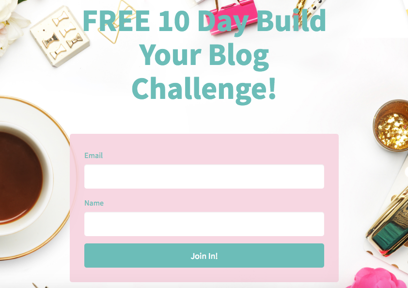 Free 10 day build your blog challenge